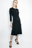 M4051 DRESS (BLK , NAVY) - N by Nancy