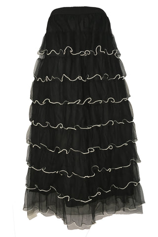X7269H PEARLED SKIRT (BLACK)