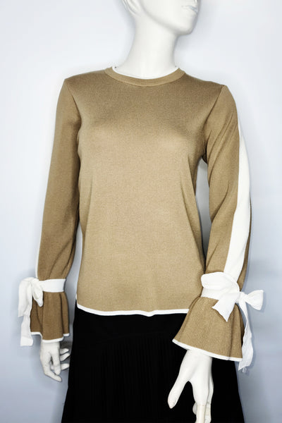 SK1065 SWEATER (WHT, CAMEL)