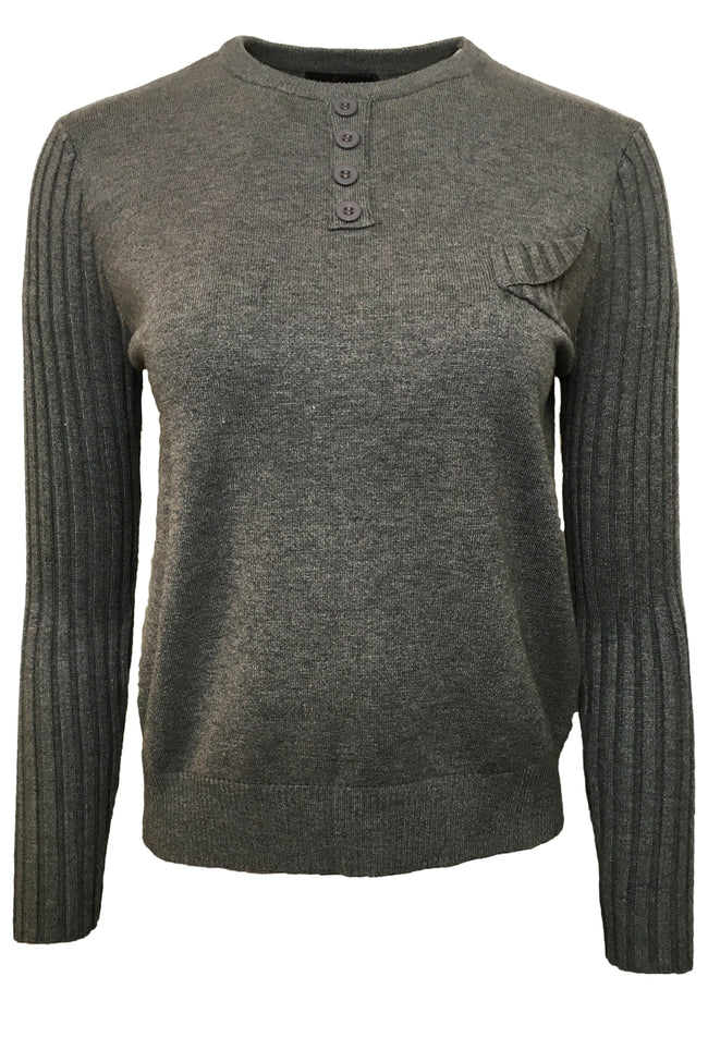 SK11045A SWEATER (BLK, GREY)