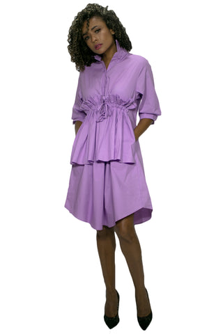 A1977 DRESS (blue, violet, white)