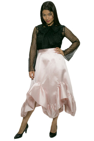 C1838 PLUS SIZED SKIRT (PINK, WHT, BLK) - N by Nancy