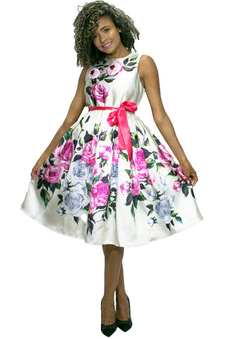 W713 FLOWER DRESS - N by Nancy