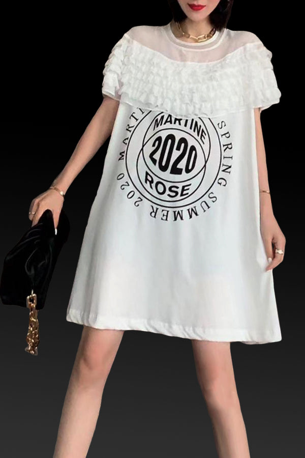 X7267H DRESS (WHITE, BLACK)