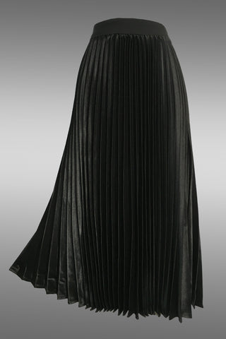 X7229 PLEATED SKIRT (BLACK)