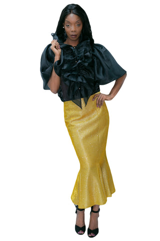 C19781 SKIRT (GOLD, SILVER)