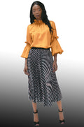 X7115 PLEATED SKIRT (3 PRINTS)