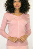 M1103 SWEATER TOP (PINK, BLK, WHT)