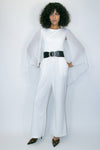 C1905 JUMPER (WHITE, YELLOW, BLACK) Belt Included - N by Nancy