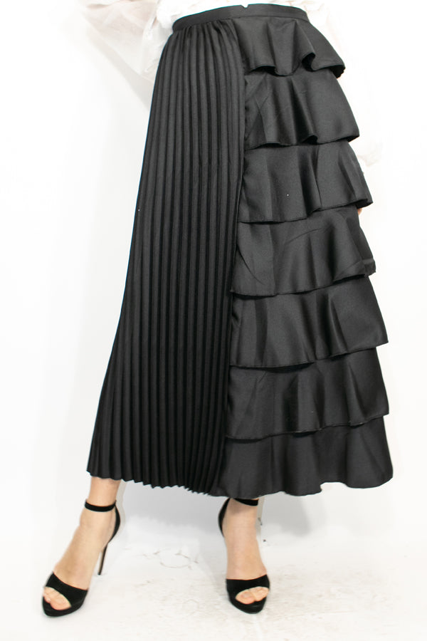 X7111 SKIRT (BLACK) - N by Nancy
