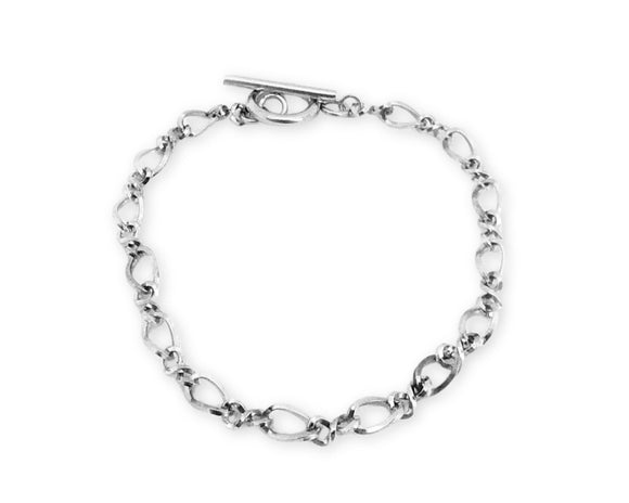 Figaro Chain Toggle Bracelet