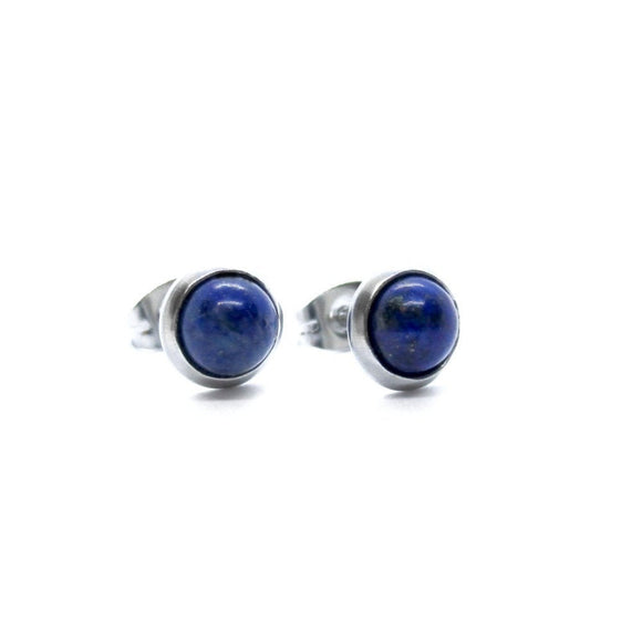 Custom Lapis Lazuli Stud Earrings