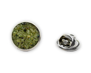 Mens Crushed Peridot Tie Tack Pin