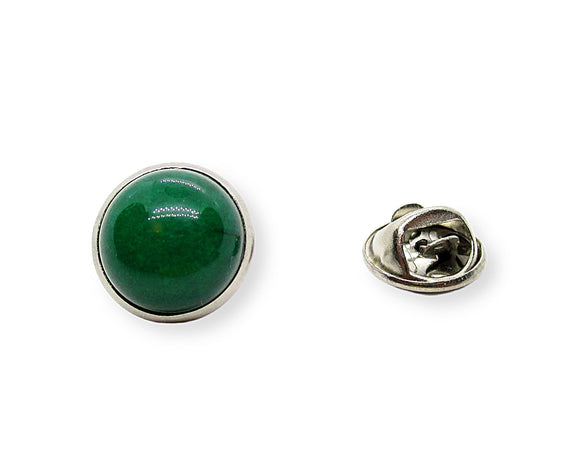 Mens Green Jade Tie Tack Pin