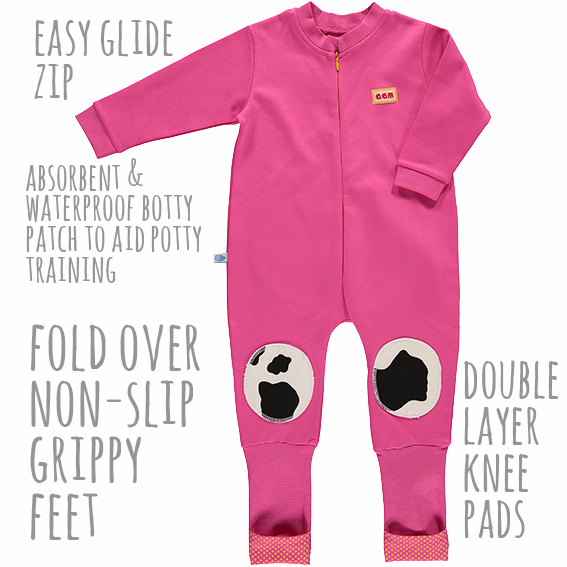 Strawberry snuggle suit - description
