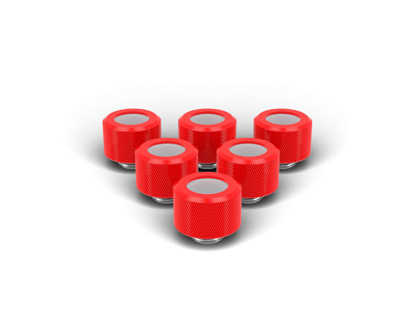PrimoChill 14mm OD Rigid SX Fitting - 6 Pack - Comp Red