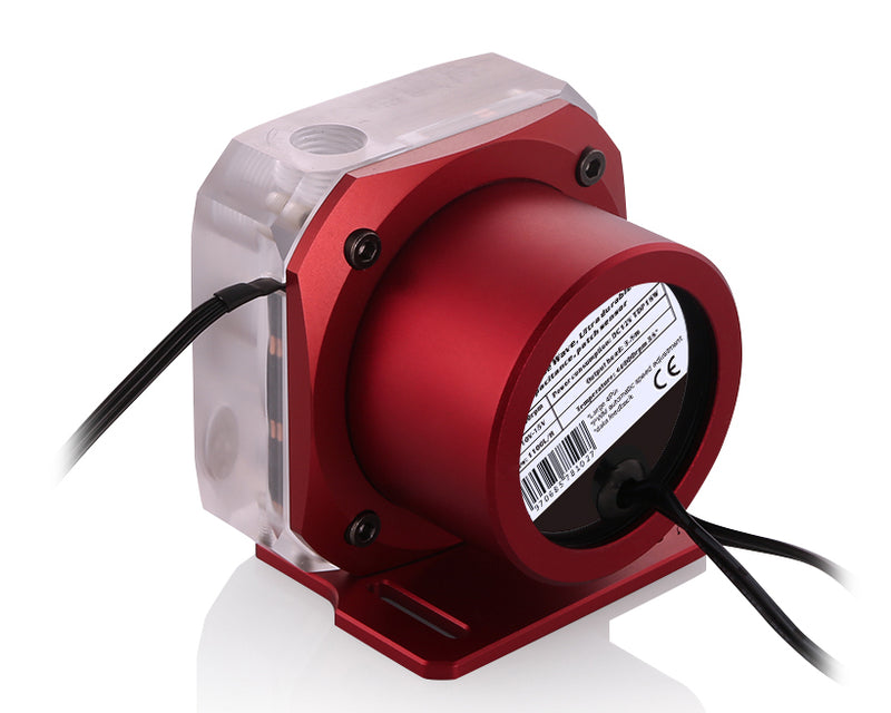 Bykski PMS5 Liquid Cooling 12V Pump - PWM Enabled Version 2 - Red Mount (B-PMS5-NX-V2)