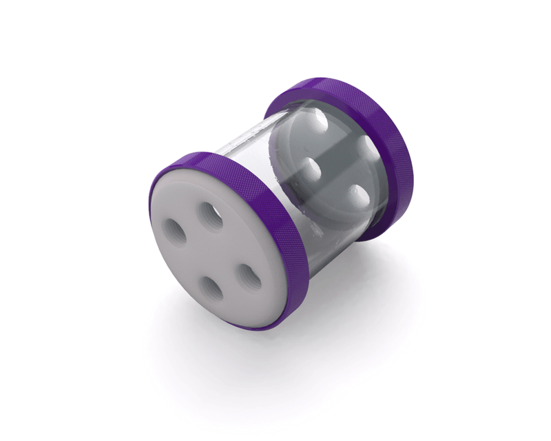 PrimoChill CTR Low Profile Phase II Reservoir - White POM - 80mm - Purple