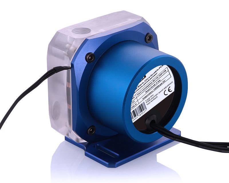 Bykski PMS5 Liquid Cooling 12V Pump - PWM Enabled Version 2 - Blue Mount (B-PMS5-NX-V2)
