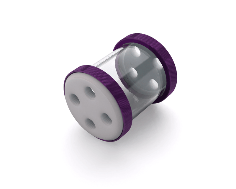 PrimoChill CTR Low Profile Phase II Reservoir - White POM - 80mm - Candy Purple
