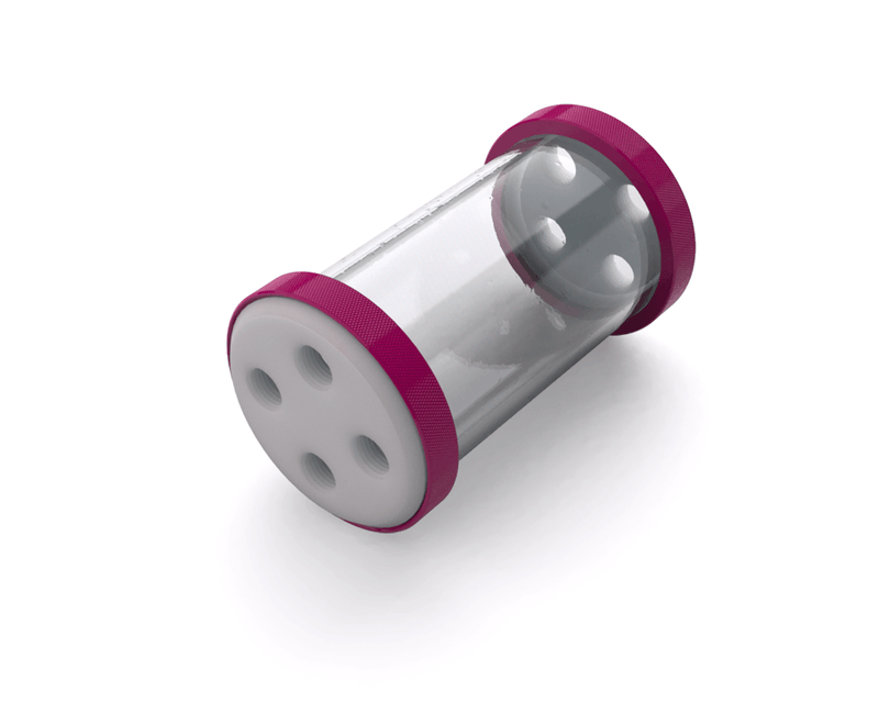 PrimoChill CTR Low Profile Phase II Reservoir - White POM - 120mm - Magenta