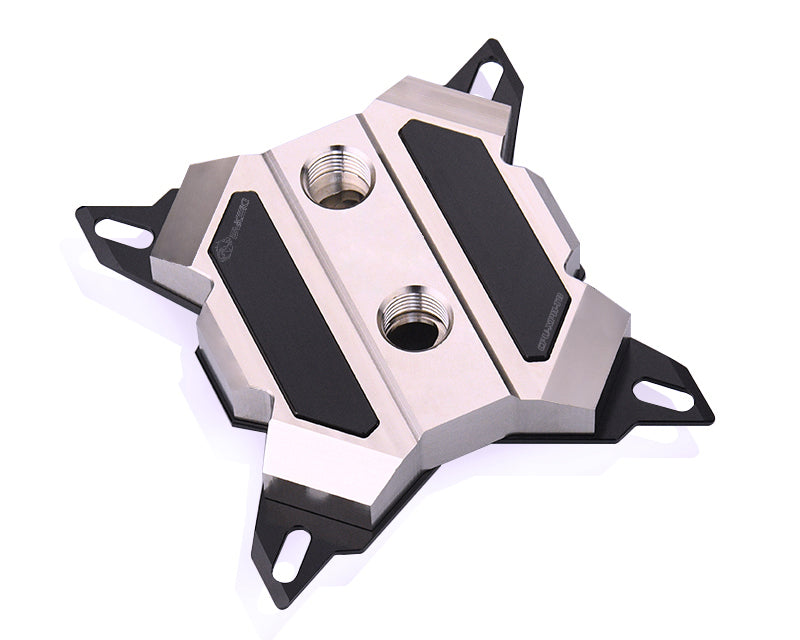 Bykski CPU-XPH-T8 CPU Water Cooling Block - Full Metal - Nickel Plated - Black Accent (LGA 115x / 20xx)