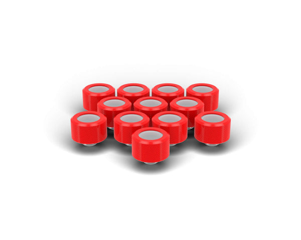 PrimoChill 14mm OD Rigid SX Fitting - 12 Pack - Comp Red