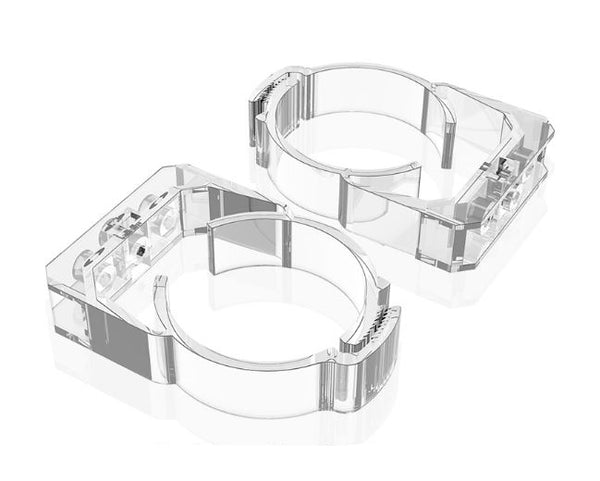 Bykski 60mm Thick Reservoir Mounting Clip - Clear - 2 Pack (B-CT60-RB-V2)