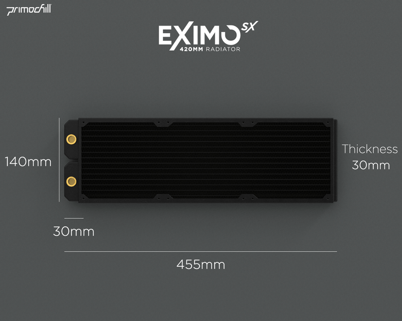 PrimoChill 420mm EximoSX Slim Radiator