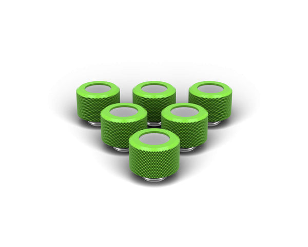 PrimoChill 14mm OD Rigid SX Fitting - 6 Pack - Kawa Green
