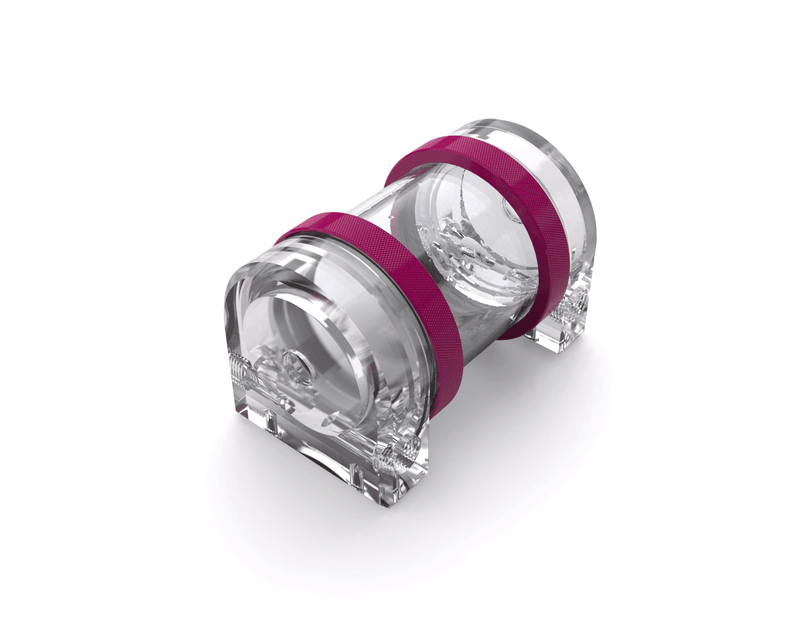 PrimoChill CTR Hard Mount Phase II Reservoir - Clear PMMA - 80mm - Magenta