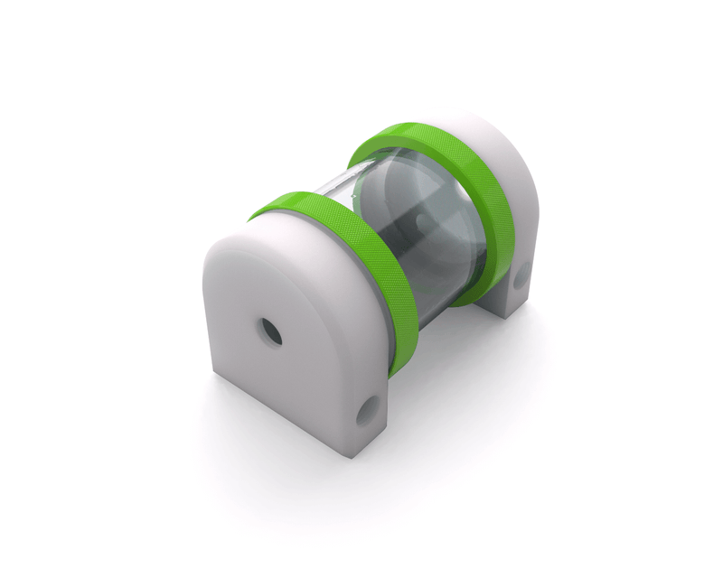 PrimoChill CTR Hard Mount Phase II Reservoir - White POM - 80mm - Kawa Green