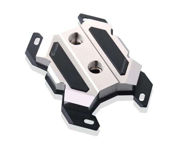 Bykski CPU-XPH-T8 CPU Water Cooling Block - Full Metal - Nickel Plated - Black Accent (AM4 / AM3 / AM2 / FM2 / FM1)