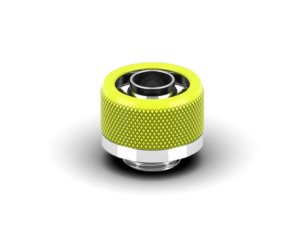 PrimoChill 3/8in. x 5/8in FlexSX Series Compression Fitting - Lime Yellow