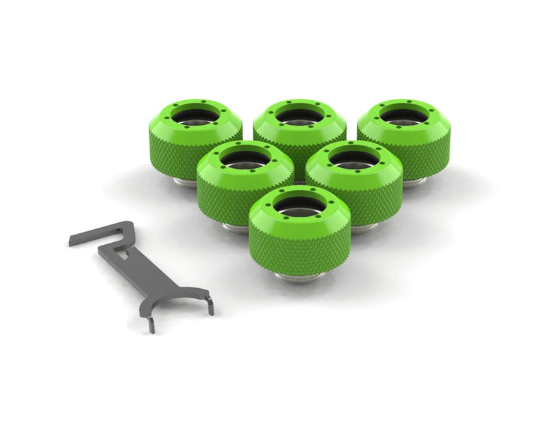PrimoChill 1/2in. Rigid RevolverSX Series Fitting - Kawa Green - 6 Pack - Kawa Green