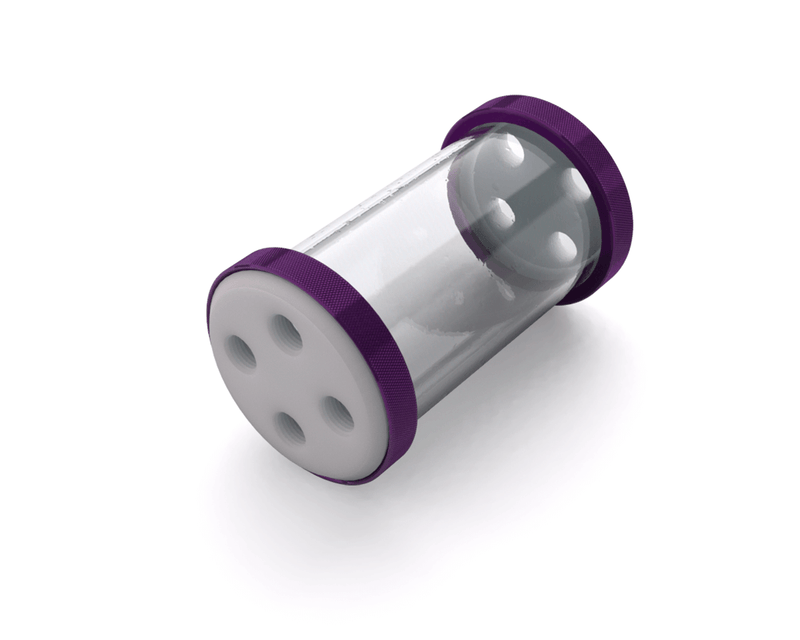 PrimoChill CTR Low Profile Phase II Reservoir - White POM - 120mm - Candy Purple
