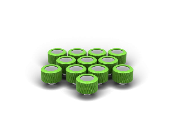 PrimoChill 14mm OD Rigid SX Fitting - 12 Pack - Kawa Green