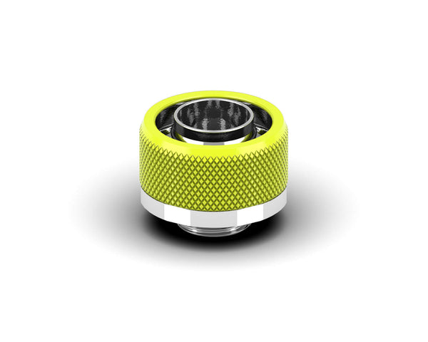 PrimoChill 1/2in. x 3/4in FlexSX Series Compression Fitting - Lime Yellow