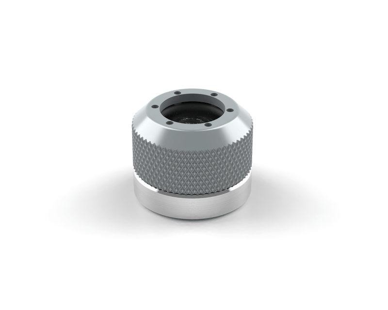 PrimoChill 1/2in. Rigid RevolverSX Series Coupler G 1/4 Fitting - Silver - Silver