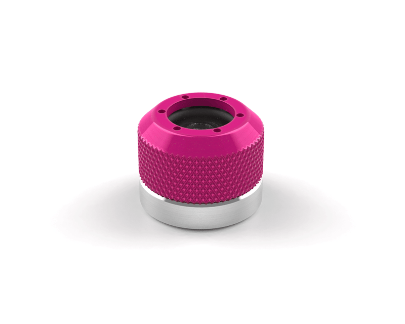 PrimoChill 1/2in. Rigid RevolverSX Series Coupler G 1/4 Fitting - Candy Pink - Candy Pink