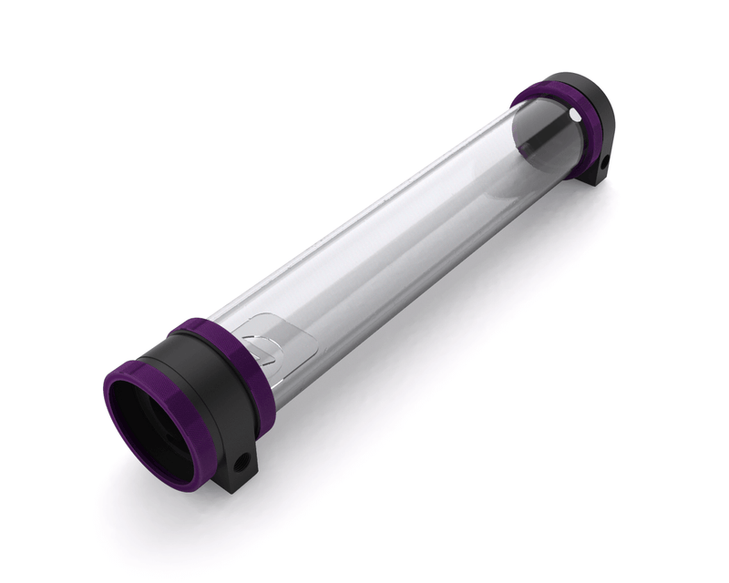 PrimoChill CTR Hard Mount Phase II High Flow D5 Enabled Reservoir - Black POM - 360mm - Candy Purple