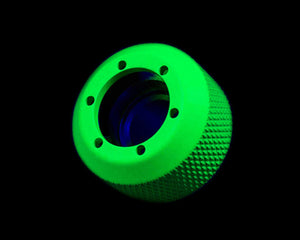 PrimoChill 1/2in. Rigid RevolverSX Series Fitting - UV Green - Primochill