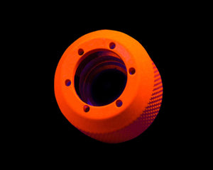 PrimoChill 1/2in. Rigid RevolverSX Series Fitting - UV Orange - Primochill