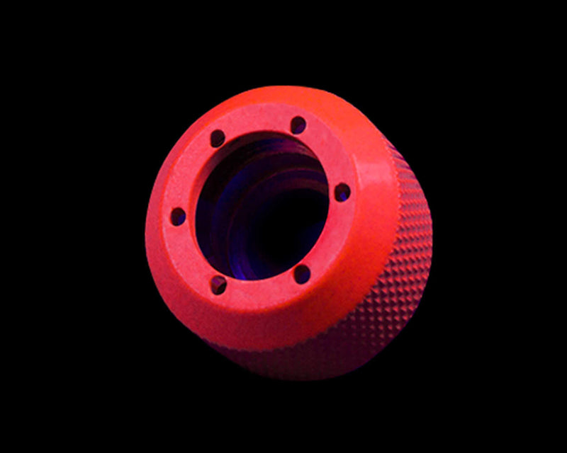 PrimoChill 1/2in. Rigid RevolverSX Series Fitting - UV Red - Primochill