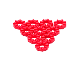 PrimoChill M4 Rubber Washer Anti-Vibration Grommet - 10 Pack - Red