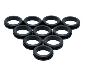 PrimoChill 5/8 Inch Cable / Tubing Rubber Pass Thru Grommet - 10 Pack