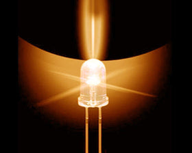 10mm LED Bulb - Amber - 50 Pack
