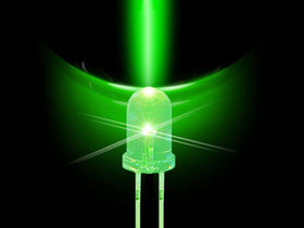 1.8mm LED Bulb - Green - 50 Pack