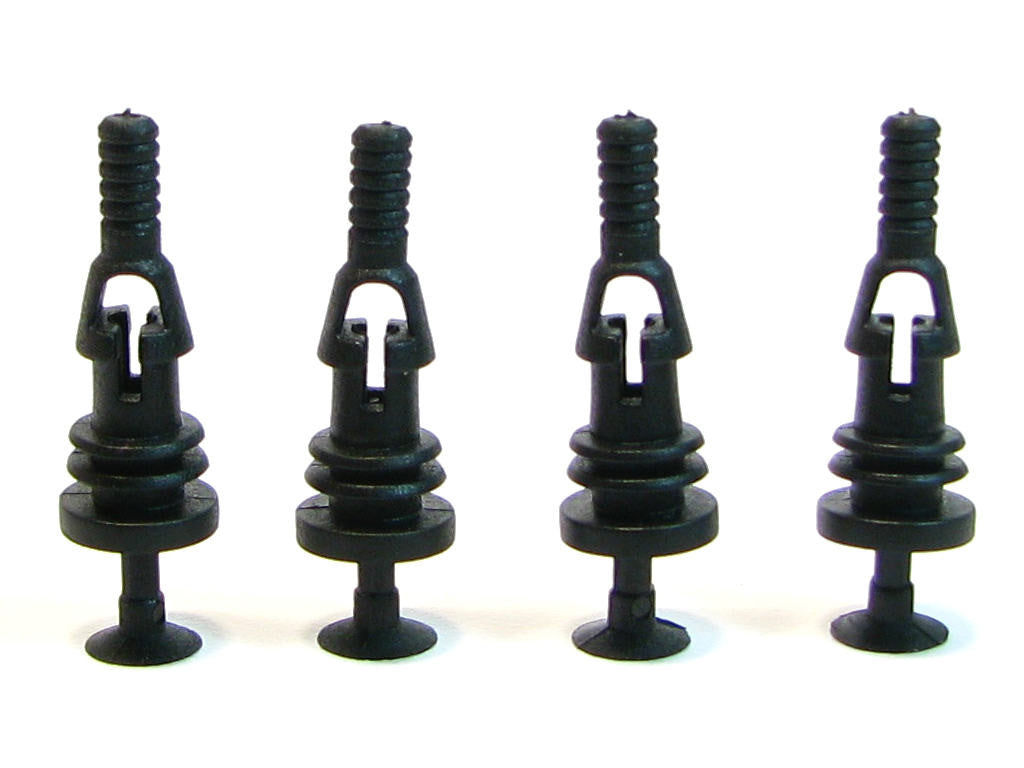 Riveted Rubber Fan Push Pins for Open Chassis Fan - Black - 4 Pack ...