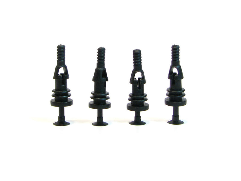 Riveted Rubber Fan Push Pins for Open Chassis Fan - Black - 4 Pack - Primochill